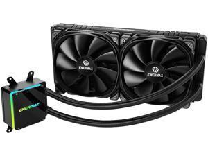Enermax LIQTECH TR4 II 280 Addressable RGB All-in-one CPU Liquid Cooler for TR4, 280mm Radiator, Dual Chamber RGB Pump, T.B. Pressure fan blades, Black, 5 Year Warranty