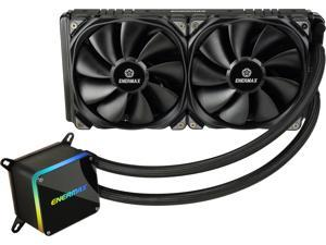 Enermax LIQTECH II 280 Addressable RGB All-in-one CPU Liquid Cooler for AM4/LGA2066, 280mm Radiator, Dual Chamber RGB Pump, T.B. Pressure Fan Blades, ELC-LTTO280-TBP