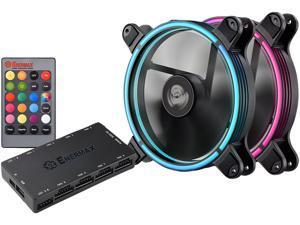 Enermax T.B. RGB 140mm RGB Case Fan, Twister Bearing Technology, Dual - Black; UCTBRGB14-BP2