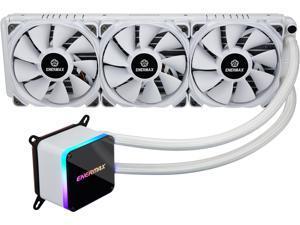 Enermax LIQTECH II 360 Addressable RGB All-in-one CPU Liquid Cooler for AM4/LGA2066, 360mm Radioator,  Dual Chamber RGB Pump, T.B. Pressure fan blades, White, ELC-LTTO360-TBP-W