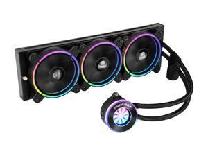 Enermax LIQFUSION 360, Addressable RGB All-in-one CPU Liquid Cooler for AM4 / LGA1200, 360mm Radiator, Patented Flow Indicator Design, T.B. RGB Addressable M/B Sync RGB Fan, 5 Year Warranty
