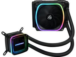 Enermax AQUAFUSION 120, Addressable RGB All-in-one CPU Liquid Cooler for AM4 / LGA1200, 120mm Radiator, Dual-Chamber Water Block, SquA RGB Fan, 5 Year Warranty