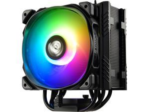 Enermax ETS-T50 Axe Addressable RGB CPU Air Cooler 230W+ TDP for Intel/AMD Univeral Socket, 5 Direct Contact Heat Pipes, 120mm PWM Fan, ETS-T50A-BK-ARGB