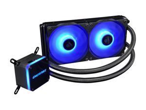 Enermax LIQMAX III RGB 240, All-in-one CPU Liquid Cooler for AM4 / LGA1200, 240mm Radiator, Dual-Chamber Water Block, RGB Fan, 5 Year Warranty