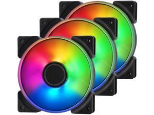 Fractal Design Prisma AL-12 PWM 120mm Addressable RGB LED Long Life Sleeve Bearing Computer Case Fan 3-Pack