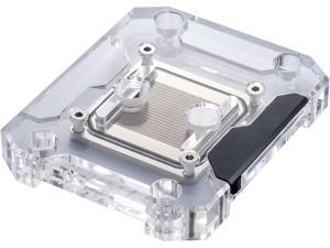 Phanteks Glacier C360A CPU Water Block for AMD AM4, Acrylic Cover, Digital-RGB LED lighting, Chrome and Black Cover