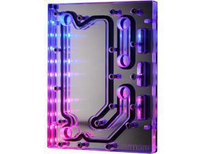 Phanteks Glacier D120 Universal Distribution Plate, Mirror Acrylic Backplate, Digital-RGB LED