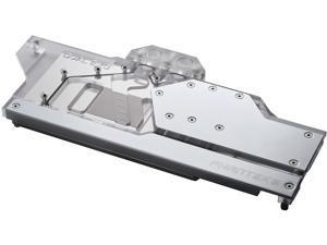 Phanteks Glacier Dual Evo for ASUS RTX 2080/2070/2060 SUPER Dual EVO Series, Nickel-Plated, Acrylic, Aluminum Cover Plate, Digital RGB, Full Water Block - Chrome