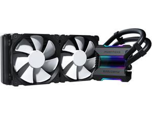 Phanteks Glacier One 240MP D-RGB AIO Liquid CPU Cooler, Infinity Mirror Pump Cap Design, 2x Silent 120mm MP PWM Fans, Black, PH-GO240MP_DBK01