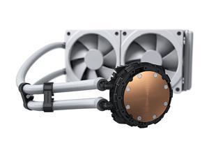 Phanteks Glacier One 240MPH D-RGB AIO Liquid CPU Cooler, Infinity Mirror Pump Cap Design, 2x Silent 120mm MP PWM Fans, 2x D-RGB Halos Fan Frames, White, PH-GO240MPH_DWT01