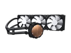 Phanteks Glacier One 360MP D-RGB AIO Liquid CPU Cooler, Infinity Mirror Pump Cap Design, 3x Silent 120mm MP PWM Fans, Black, PH-GO360MP_DBK01