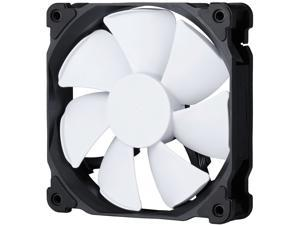 Phanteks 120mm MP PWM Fan, High Static Pressure, Optimized for Silence, Sleeved Daisy-Chain Cables, White Blades, Black Frame, PH-F120MP_BK02