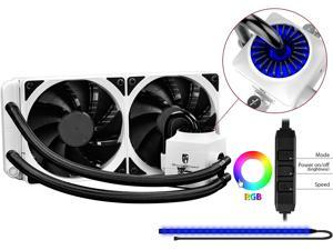 DEEPCOOL Gamer Storm CAPTAIN 240EX RGB WHITE-AIO CPU Liquid Cooler 240mm RGB Waterblock And LED Strip AURA SYNC Ceramic Bearing Pump Visual Liquid Flow Metal Mounting Kit AM4 Compatible