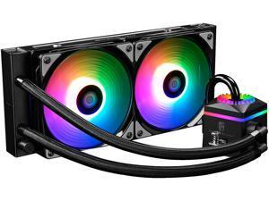 DEEPCOOL Gamer Storm CAPTAIN 240 PRO ADD RGB M/B Control Ceramic Bearing Air pressure Adjustable Automatically Liquid CPU Cooler TR4 Compatible