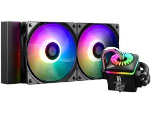DEEPCOOL GAMERSTORM CAPTAIN 240PRO V2, Addressable RGB AIO Liquid CPU Cooler,  240mm Radiator,Anti-Leak Technology Inside, Cable Controller and 5V ADD RGB 3-Pin Motherboard Control, TR4/AM4 Compatible