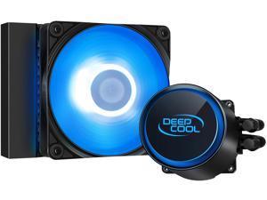 DeepCool CASTLE 120R AIO Liquid CPU Cooler, Anti-Leak Technology, 120mm RGB PWM Fan, 12V 4-Pin Motherboard Connector, Intel 115x/ 1200/ 2066, AMD AM4