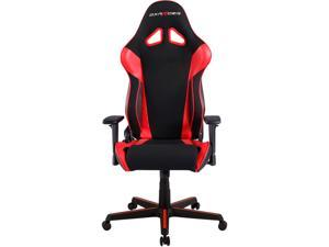 DXRacer Ergonomically Designed Racing Series RAA106 Black and Red Strong Mesh and PU Leather 135-degree Recline High-End Gaming Chair with Neck and Lumbar Support Pillow