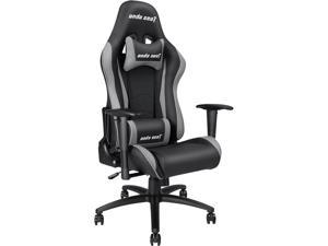 Anda Seat Axe Series High Back Gaming Chair Ergonomic Computer Chair eSports Desk with Pillows(Black/Grey) AD5-01-BG-PV