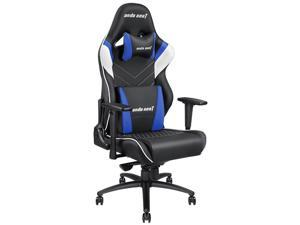 Anda Seat Assassin King Series Big and Tall Gaming Chair, High-Back Desk and Office Chair 400LB With Lumbar Support and Headrest (Black/White/Blue) AD4XL-03-BWS-PV