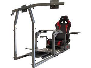 GTR Simulator - Model GTA-Pro Racing Simulator Home Workstation Racing Cockpit with Real Racing Seat Black and Racing Rig Control Mounts for Driving and Flight Simulator Gaming