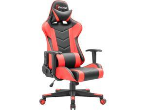 Devoko Ergonomic Gaming Chair Racing Style High-back PC Computer Chair Adjustable Height Swivel Rocker With Headrest and Lumbar Support  (Red)