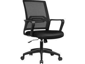 GTPLAYER Office Chair Ergonomic Desk Chair Mesh Computer Chair Mid Back Mesh Home Office Swivel Chair, Modern Executive Chair with Armrests Lumbar Support (Black)