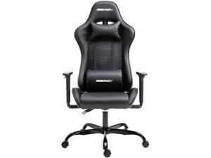 AMINITURE Gaming Chair Racing Style High Back Computer Game Chair Office Chair Seat Height Adjustment Recliner with Headrest and Lumbar Support