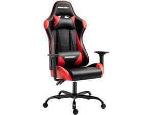 AMINITURE Gaming Chair Racing Style High Back Computer Game Chair Office Chair Seat Height Adjustment Recliner with Headrest and Lumbar Support (Black&Red)