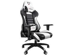 Furgle Gaming Recliner Chair Racing Style PU Leather Gaming Chair Ergonomic Adjusted Reclining Office Desk Chair Home Single Sofa Chair with Headrest and Lumbar Support