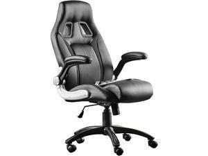 FURGLE PU Leather High Back Office Chair Executive Task Ergonomic Computer Desk