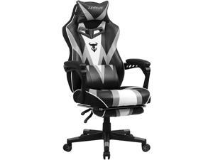 Zeanus Gaming Chair with Massage, Ergonomic Gaming Chair, Computer Chair with Footrest, Big and Tall Gaming Chair for Adults, Reclining Desk Gaming Chair, E-Sports Gamer Chair, High Back Racing Chair