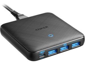USB C Charger, Anker 65W 4 Port PIQ 3.0 & GaN Fast Charger Adapter, PowerPort Atom III Slim Wall Charger with a 45W USB C Port, for MacBook, USB C Laptops, iPad Pro, iPhone, Galaxy, Pixel and More