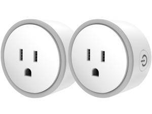 Elf Smart Plug by Eques - No Hub Required - Control Your Home from Anywhere - Compatible with Alexa & Google Home - WiFi App Enabled - UL FCC Certified - Fireproof Material (2 Pack)