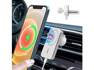 LXBOSS Magnetic Wireless Car Charger, Vent Mount, 15W Fast Charger, Magsafe Wireless Charging, Magnet Phone Holder Stand, for Mag-Safe Magsafe Case iPhone 12 Mini/12/12 Pro/Pro Max