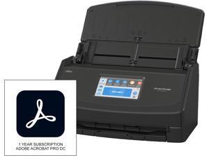 Fujitsu ScanSnap iX1500 Deluxe with Adobe Acrobat DC Pro CG01000-299501, Black