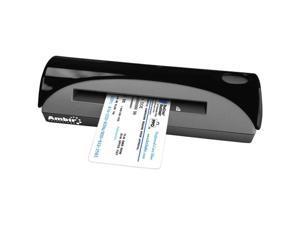 Ambir DocketPort DP667 48-bit internal color, outputs 24-bit true color, 8-bit grayscale & 1-bit B&W CMOS CIS (Contact Image Sensor) Simplex 600 dpi Simplex Card Scanner