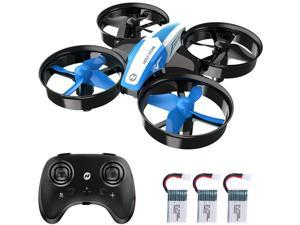 Holy Stone - HS210 Mini Drone Indoor Quadcopter for Kids and Adults with 3 Batteries, Blue