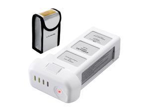 Powerextra 15.2 Volt 4480mAh Replacement Intelligent LiPo Battery for DJI Phantom 3 SE, Phantom 3 Professional, Phantom 3 Advanced, Phantom 3 Standard, 4K Drones Battery - Upgraded