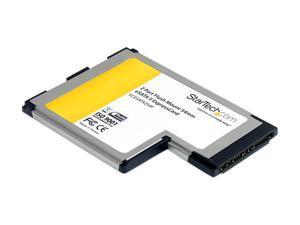 StarTech ECESATA254F 2 Port Flush Mount ExpressCard 54mm eSATA II Controller Adapter Card