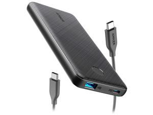 Anker PowerCore Slim 10000 PD, USB-C Power Bank (18W), 10000mAh Power Delivery Portable Charger for iPhone 12/Mini/X/XR/XS Max, S10, Pixel 3/3XL, iPad Pro 2018, and More (Charger Not Included)