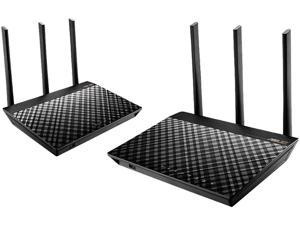 ASUS AiMesh AC1750 Whole Home Wi-Fi System, Dual-band 3x3 802.11ac Wi-Fi Technology and AiProtection Powered by Trend Micro (RT-AC66U B1 2 Pack)