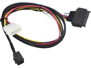 Supermicro Cable CBL-SAST-0957 Copper Cable OCuLink SFF-8611 to U.2 SFF-8639 with 4 Pin Brown Box
