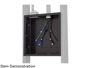 Large In-Wall Storage Box with Flange, Integrated universal zip tie anchor point