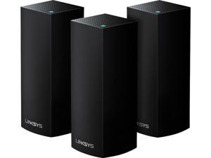 Linksys (WHW0303B) Velop Mesh Router (Tri-Band Home Mesh Wi-Fi System for Whole-Home Wi-Fi Mesh Network) 3-Pack, Black