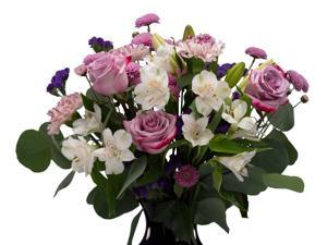 Farm Direct Fresh Flowers - Purple Rose Mixed Bouquet
