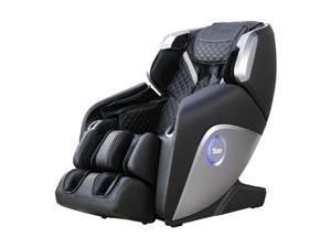 Titan Elite 3D Massage Intelligent Voice Control Full Body Reclining Zero Gravity Heated Massage Chair with Specialized Foot Roller and Calf Roller Black