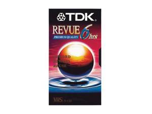 TDK 36330 T-120 VHS Revue Premium Quality Blank VHS Tape - 6 Hour 1 Pack