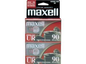 maxell 108527-FLATPAK UR Type I Audio Cassette 2 Packs