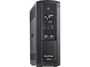 CyberPower BRG1500AVRLCD 1500 VA / 900 Watts, 12 Outlets, AVR, Intelligent LCD Mini-Tower UPS System