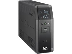 APC BR1500MS2 1500 VA 900W 10 Outlets Back UPS PRO BR, SineWave, 2 USB Charging Ports, AVR, LCD interface